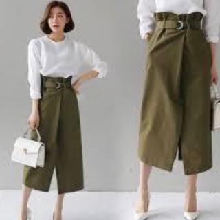 dholic - ベルトSETスリットロングスカート
