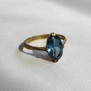 昭和レトロ  合成サファイア(ブルー) ヴィンテージリング(リング(指輪))