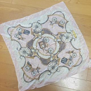 シルク 100パーセント 馬車 ピンク 高級 スカーフ(バンダナ/スカーフ)