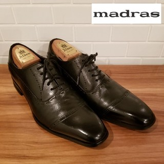 マドラス(madras)の美品 【madras】マドラス ストレートチップ ビジネスシューズ(ドレス/ビジネス)