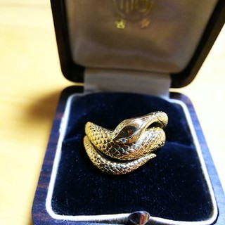 k18 ダイヤ付き 蛇リング(リング(指輪))