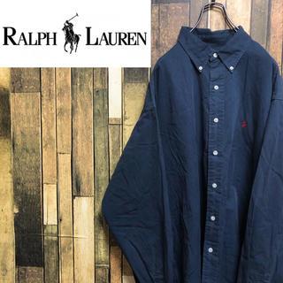 ラルフローレン(Ralph Lauren)の【激レア】ラルフローレン☆ワンポイント刺繍ロゴ入りスーパービッグシャツ 90s(シャツ)