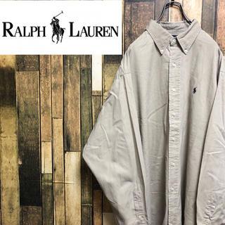 Ralph Lauren - 【激レア】ラルフローレン☆ワンポイント刺繍ロゴ入りBDビッグシャツ 90s