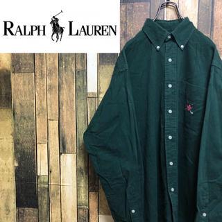 Ralph Lauren - 【激レア】ラルフローレン☆ワンポイントエンブレム刺繍ロゴBDチノシャツ 90s