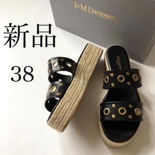 ジェイアンドエムデヴィッドソン(J&M DAVIDSON)の新品/38 国内正規品 J&M DAVIDSON ジュートソール サンダル(サンダル)