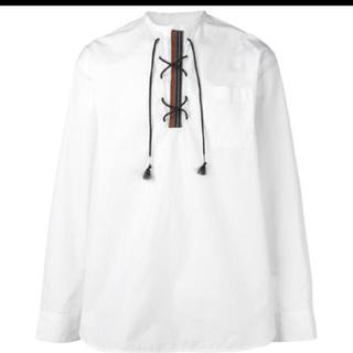 マルニ(Marni)のmarni  レースアップシャツ   新品(シャツ)