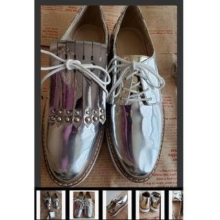 ザラ(ZARA)のZARA 2wayレースアップシューズ(ローファー/革靴)