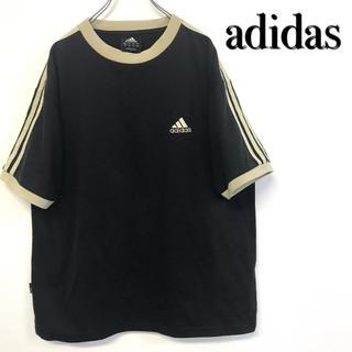 アディダス(adidas)の美品 adidas 刺繍ロゴ×3ライン Tシャツ(Tシャツ/カットソー(半袖/袖なし))
