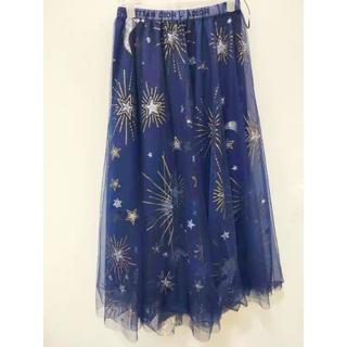 ディオール(Dior)の2019SS 新作 Dior チュール シャーリング スカート S(ロングスカート)