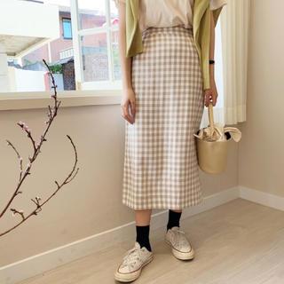 dholic - ギンガムチェックタイトスカート