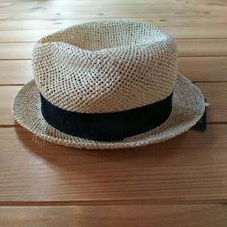エイチアンドエム(H&M)の新品未使用 H&M ストローハット 麦わら帽子 サイズM  56(麦わら帽子/ストローハット)