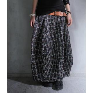 antiqua - antiqua ツイードコクーンスカート