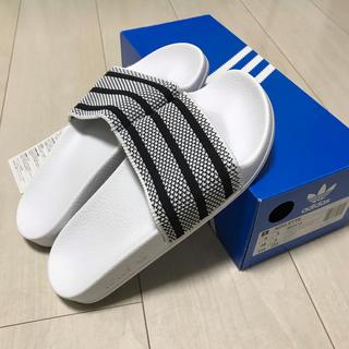 adidas - 新品未使用 adidas アディレッタ サンダル ニットアッパー 23.5