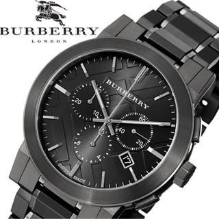 BURBERRY - 確実本物★新品未使用バーバリーブラック高級時計クロノグラフBurberry