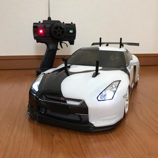 1/10 ラジコン ドリフト R35 GT-R LED電飾付 ステアリング連動