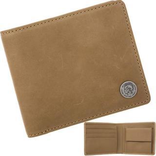 ディーゼル(DIESEL)のディーゼル 二つ折り財布 メタルロゴ レザー ライトブラウン(折り財布)