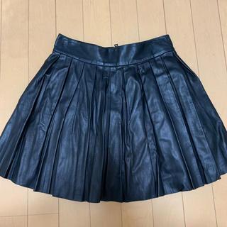 アリスアンドオリビア(Alice+Olivia)のAlice +olivia レザースカート 新品タグ付き(ミニスカート)