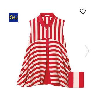 ジーユー(GU)の値下げ!GU ノースリーブカットソー(シャツ/ブラウス(半袖/袖なし))