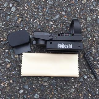フルアルミ製 Beileshi ロゴ入り オープンドットサイト 20mm タクテ(モデルガン)