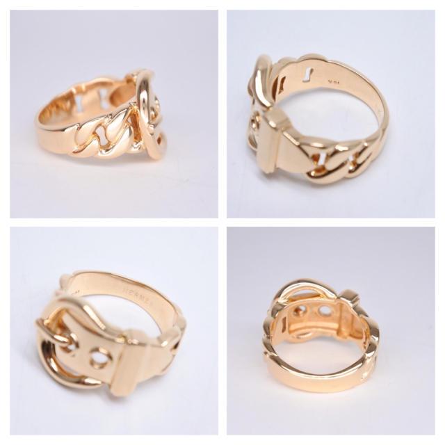 Hermes(エルメス)のエルメス ブックルセリエ K18 リング 14号 ユニセックス 指輪 新品同様  メンズのアクセサリー(リング(指輪))の商品写真