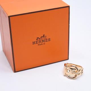 エルメス(Hermes)のエルメス ブックルセリエ K18 リング 14号 ユニセックス 指輪 新品同様 (リング(指輪))