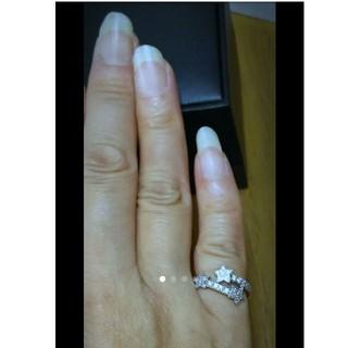 スタージュエリー(STAR JEWELRY)のスタージュエリー K18WG ダイヤ0.26ct ピンキーリング 2号サイズ(リング(指輪))