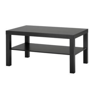 イケア(IKEA)のLACK コーヒーテーブル ブラック(コーヒーテーブル/サイドテーブル)