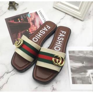 シューズ フラット レディース 靴 ファッション ルームシューズ 外出 韓国(サンダル)
