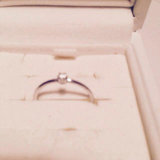 ESTEELE 10kダイヤリング(リング(指輪))