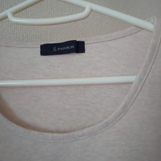 RAGEBLUE(レイジブルー)のRAGE BLUE 5分袖ぐらいのTシャツ レディースのトップス(Tシャツ(半袖/袖なし))の商品写真