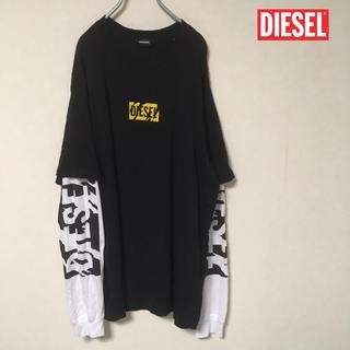 DIESEL - DIESEL  クッキーロゴ レイヤードTシャツ
