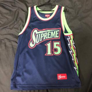 Supreme - Supreme 18SS Bolt Basketball Jersey ネイビー