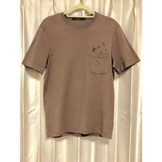 ルイヴィトン(LOUIS VUITTON)の【美品】Tシャツ ルイヴィトン ブラウン ロゴ モノグラム XS(Mサイズ)(Tシャツ/カットソー(半袖/袖なし))