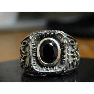 新品 セインツ 08 カレッジ リング 19号 ジルコニア SAINTS(リング(指輪))