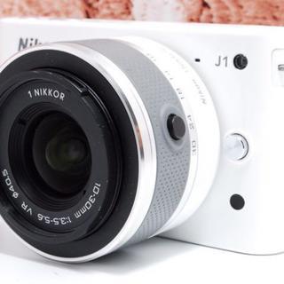 ニコン(Nikon)の★超人気★Nikon J1 ホワイト 手ぶれ補正(ミラーレス一眼)
