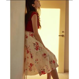 MERCURYDUO - カラフルフラワープリーツスカート