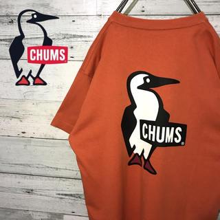 チャムス(CHUMS)の【レア】チャムス CHUMS☆ビッグロゴ 刺繍ロゴ ロゴタグ Tシャツ(Tシャツ/カットソー(半袖/袖なし))