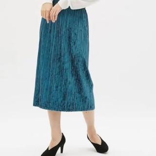 GU - 【GU】クラッシュベロアプリーツスカート