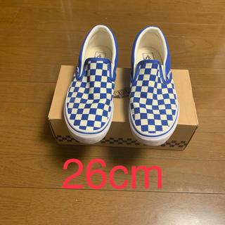 VANS - vans slip on blue check 26cm v98cl スリッポン