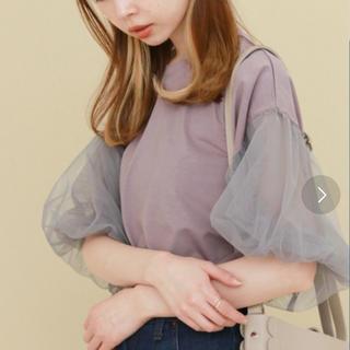 ケービーエフ(KBF)のKBF チュールスリーブT(Tシャツ(半袖/袖なし))