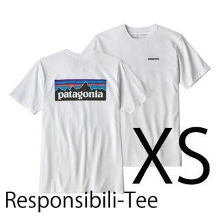 patagonia - 新品 速達 即日発送 XS パタゴニア P6 ロゴ Tシャツ 白 ホワイト