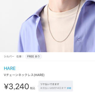 HARE - 【HARE】 Vチェーンネックレス 新品未使用