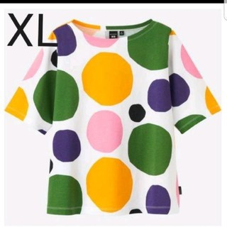 マリメッコ(marimekko)の新品未使用 ユニクロ マリメッコ コラボTシャツ ドット XL(Tシャツ(半袖/袖なし))