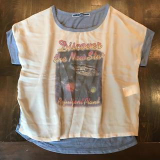 ジエンポリアム(THE EMPORIUM)のトップス Tシャツ ジ エンポリアム 半袖 カットソー×チュール スペース 宇宙(Tシャツ(半袖/袖なし))