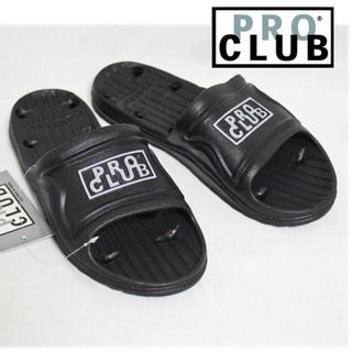 《プロクラブ》新品 シャワーサンダル 黒×白 11(28.5~29cm)(サンダル)
