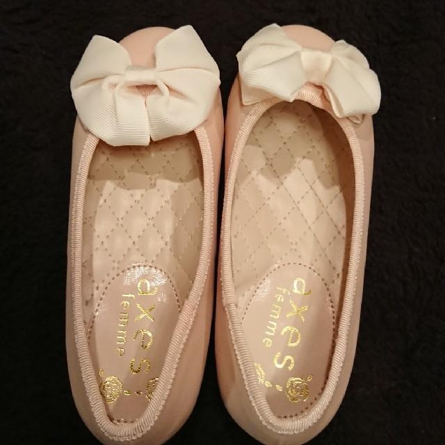 axes femme(アクシーズファム)のaxesfemme新品パンプス靴☆Sサイズ18cm位 キッズ/ベビー/マタニティのキッズ靴/シューズ(15cm~)(フォーマルシューズ)の商品写真