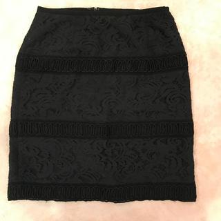 ジャスグリッティー(JUSGLITTY)の冬素材 レースタイトスカート(ひざ丈スカート)