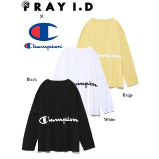FRAY I.D - FRAY I.D×Champion バックプリントロングTシャツ
