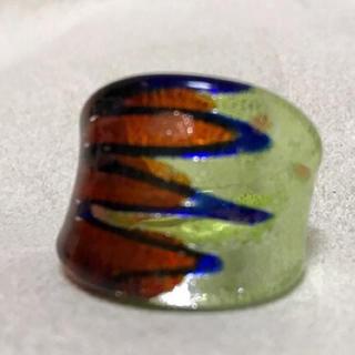 ガラス リング 指輪②グリーン ブラウン(リング(指輪))