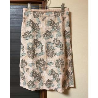 ミナペルホネン(mina perhonen)のミナペルホネン 台形スカート happy camouflage(ひざ丈スカート)